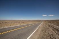 Carreteras que comienzan de nuevo al llegar al horizonte.