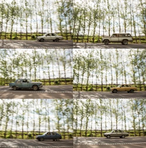 10 minutos parado en la carretera y estos son los coches que pasaron. Es increible pedalear por carreteras asi.