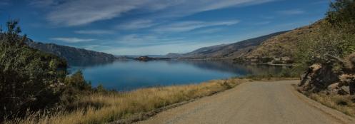 Camino a Puerto Tranquilo bordeamos las orillas del lago más grande de Chile, el General carrera.