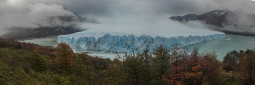 Panorámica del glaciar completo. Aunque no lo parezca de lado a lado hay 5 km.