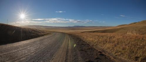 Última curva antes de llegar al puesto aduanero de Argentina en el paso fronterizo de río Don Guillermo