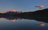 Creía que no se podía mejorar la vista de la tarde y noche anterior...hasta que amaneció en las Torres del Paine frente a la laguna Amarga...