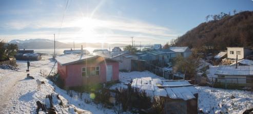 En la pequeña villa de Ukika viven la mayor parte de descendientes Yaganes que hay en Tierra del Fuego