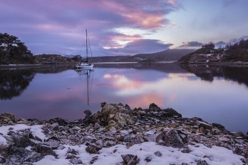 Me despierto al amanecer para disfrutar de estas vistas en Bahía Mejillones.