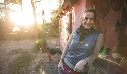 Luciana, argentina afincada en Valizas desde hace mas de 20 años.