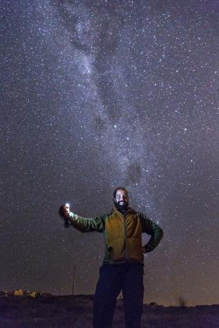 La noche estrellada desde la playa de Teresa fue simplemente especial.