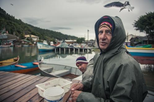 Pescadores en Barra da Lagoa