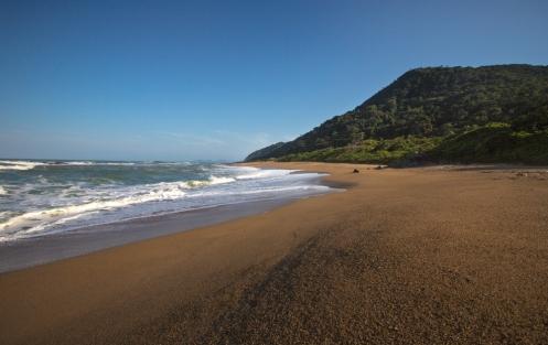 La playa de Río Vermelho, en los alrededores de Navegantes.