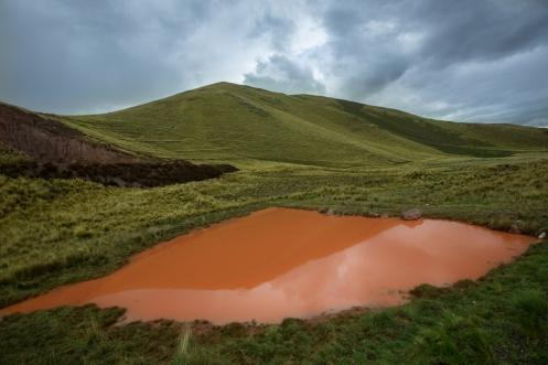 Las verdes montañas y las lluvias provocan combinaciones de colores espectaculares.
