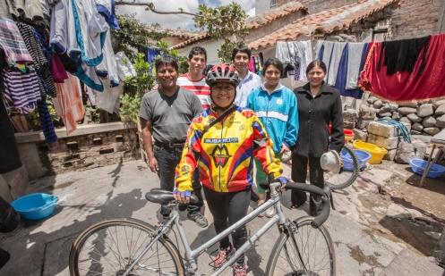 Irma y su familia fueron unos anfitriones de lujo en la ciudad de Ayacucho.