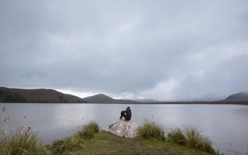 Diusfrutando de la soledad mas absoluta en la Reserva de El Angel.