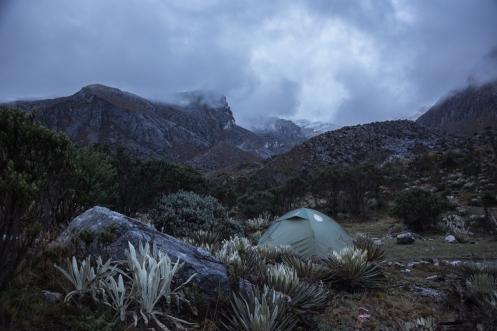 nuestro campo base en el parque nacional del Cocuy esta instalado.
