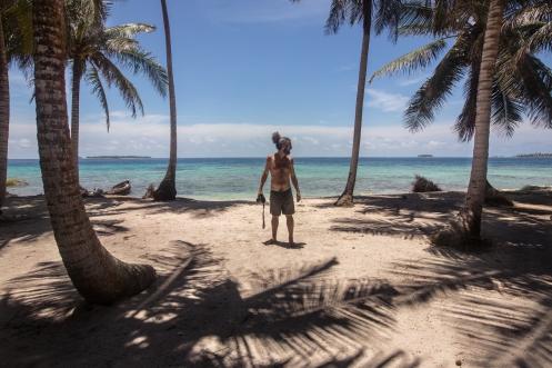 Alvaro en las islas de San Blas.