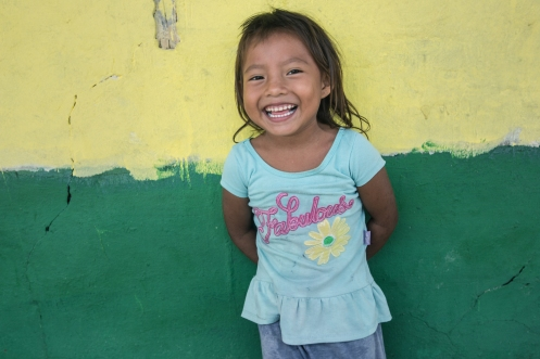 Yanet tiene 4 años y vive en una de las islas habitadas de San Blas.