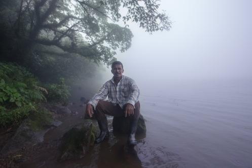 Ballardo es natural de Ometepe, y desde hace muchos años trabaja como guía subiendo al Volcán Madera y Concepción.