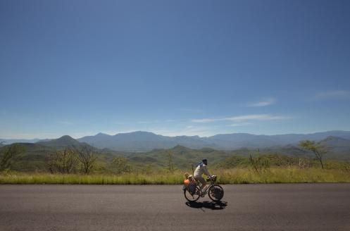 Pedaleando por las montañas del estado de Oaxaca.