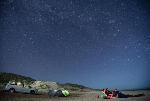 Pasamos la primera noche en una playa de la costa del Mar Cortés