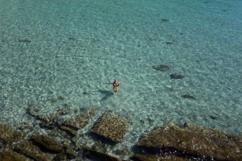 El agua del Mar de Cortés es de las mas limpias del planeta, y junto con su arena blanca hacen una maravillosa convinación.