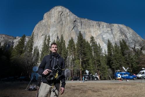 Josh Lowell es el director de la película que se ha rodado con la escalada.  una logística y técnica digna de admirar.