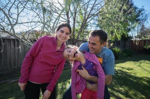 Barbara, Piliphe y Amelie nos reciben en su casa de Sunnyvale con la mayor de las sonrisas