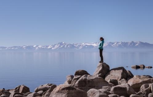 Bea en el lago Tahoe. No te cansas de mirarlo.