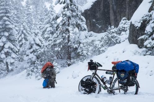 ¡Estoy grabando! grita Álvaro entre la nieve. ¡espera que te estoy sacando una foto! le grito yo desde lo lejos.