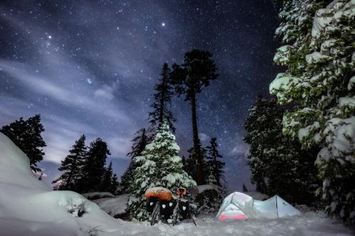 Por la noche salen las estrellas a saludarnos, pero pronto desapareceran.