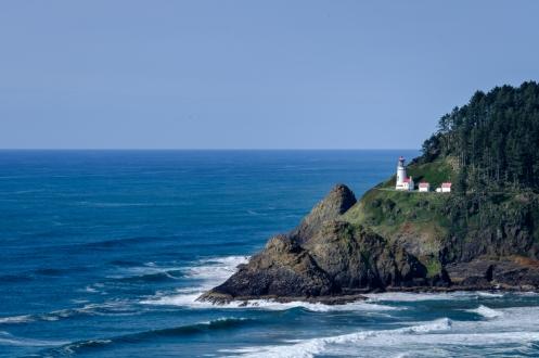 El faro de Heceta esta ubicado en uno de los lugares más privilegiados de la costa de Oregon.