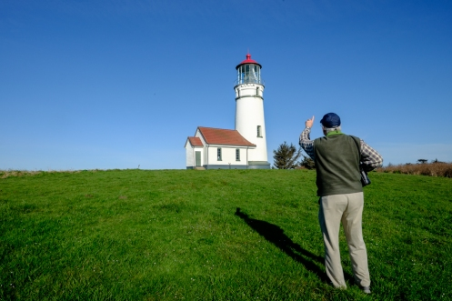 George nos quiere mostrar el faro más occidental de América antes de seguir nuestro camino. Cape Blanco.
