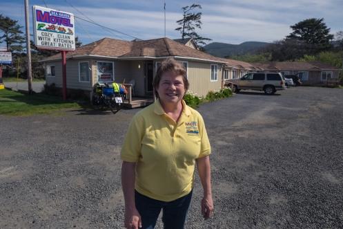 Maureen es una de esas bellas personas que hace las cosas con amor. Sea Haven Motel.