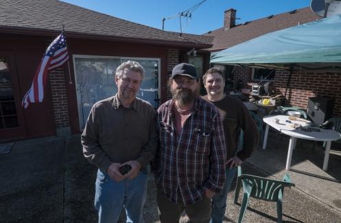 De izquierda a derecha. Robert, Dwaine y Jeremy.