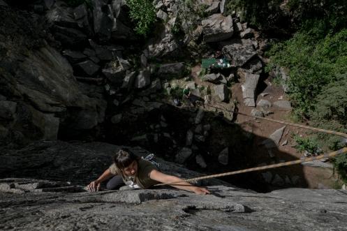 Algunos dias de descanso en Whitehorse los aprovechamos para estirar un poco el cuerpo escalando. Garden Rock, Whitehorse.
